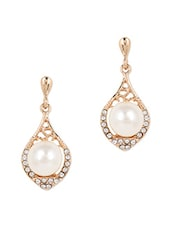 Pearl Embellished Gold Plated Earrings - JEWELIZER
