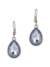 Light Blue Tear Drop Crystal Drop Earrings - JEWELIZER