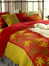 Dreamscape 220TC 100% Cotton Red  Floral Double bedsheet set -  online shopping for bed sheet sets