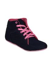 navy, pink canvas sneakers -  online shopping for Sneakers