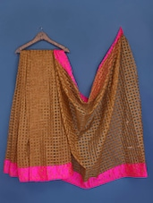 Woven Checks Silk Saree - INDI WARDROBE
