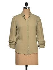 Back Lace Yoke Georgette Shirt - Wildrose