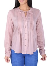 lilac pink viscose dobby shirt -  online shopping for Shirts