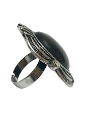 Black Metal Alloy Ring - By