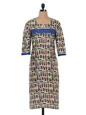Cotton Printed Kurta With Sequence Embellishment - SHREE
