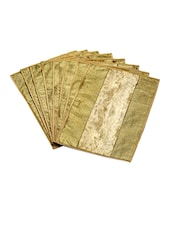 Gold Velvet And Brocade Table Mats (Set Of 8) - Jodhaa