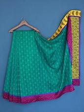 Paisley Print Border Jacquard Bhagalpuri Silk Saree - Varanga