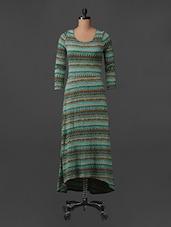 Round Neck Printed Maxi Dress - Bella Rosa