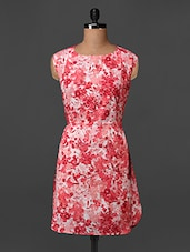 Pink Printed Poly Crepe Dress - Bella Rosa