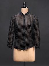 Black Polka Dots Shirt - TREND SHOP