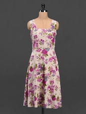 Floral Print Sleeveless Crepe Midi Dress - Meira
