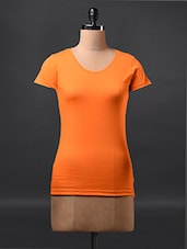 Orange Short Sleeve Cotton Tees - Fashionexpo