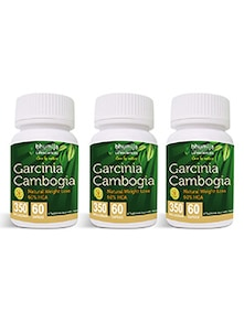 Garcinia Cambogia Capsules 60's Fat Burner, Weight Loss, Obesity Control (Pack of Three)
