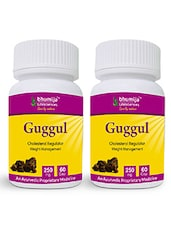 Guggul Capsules 60's  - For Joints Pain & Weight Loss, Support Healthy Function Of Cardiovascular System (Pack Of Two) - By