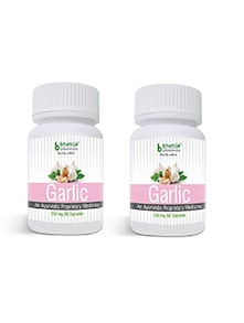 Garlic Capsules 60's - Maintain Blood Sugar Level, Anti Cancer, Anaemia, Pain Reliever, Weight Lose (Pack of Two)