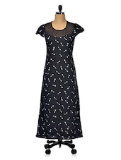 RAYON PRINTED DRESS WITH CAP SLEEVES - Hotberries