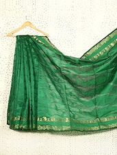Printed Emerald Green Art Silk And Zari Saree - Prabha Creations