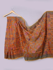 Orange Art Silk Saree - Prabha Creations