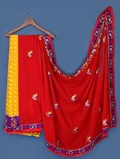 Elegant Yellow And Red Saree - Anoha