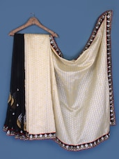 Elegant Black And Beige Saree - Anoha