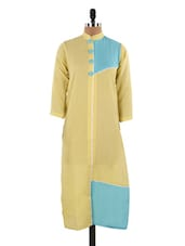 Quarter Sleeves Colour Block Kurta - LifenYou