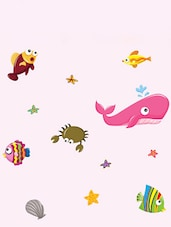 Multi Colored Different Fishes Wall Sticker - WallDana