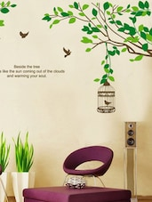 Branches With Birds, Cages Wall Sticker -  online shopping for Wall Decals & Stickers