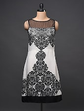Ethnic Printed Sleeveless Monochrome Dress - Eavan