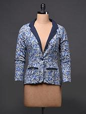 Floral Printed Full Sleeve Blazer - Eavan