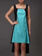 Turquoise And Black Shift Dress - Eavan