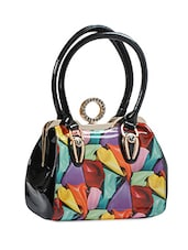 Multi Color P.U Hand Bag With Sling - Alonzo