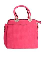 Pink Checked Handbag With Sling - Alonzo