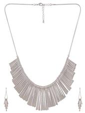 Silver Metal Alloy  Necklace Set - Siyora