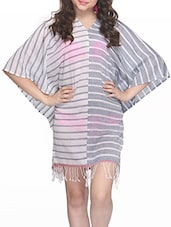 Striped Viscose Cover Up - Citypret