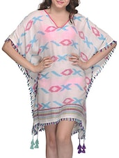 Geometric Printed Viscose Cover Up - Citypret