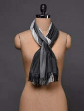 Striped Viscose Scarf - Citypret