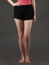 Black Viscose Shorts -  online shopping for Shorts