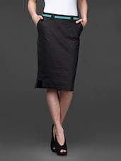 Charcoal Grey Formal Pencil Skirt - Kaaryah