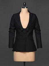 Black Full Sleeve Formal Blazer - Kaaryah