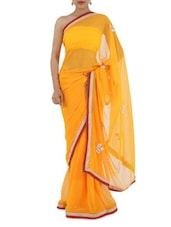 Gota Border Hand Work Saree - Bandhni