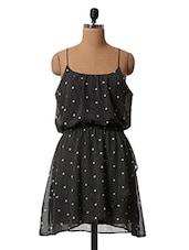 Polka Dot Printed Polyester Dress - Oxolloxo