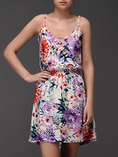 Tropical Print Cami Neck Dress - Oxolloxo