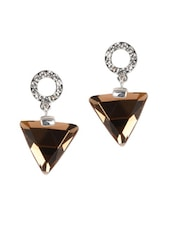 Triangular Stone Drop Earrings - YOUSHINE