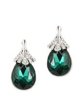 Green Glam Drop Earrings - YOUSHINE