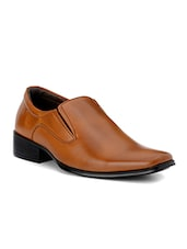 teak leatherette slip ons -  online shopping for Slip Ons