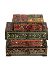 4 Drawer Embossed Wooden Chest - Woodworks