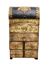 6 Drawer Embossed Wooden Chest - Woodworks