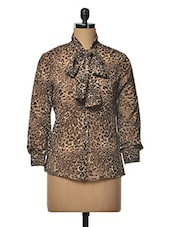 Leopard  Print Long Sleeve Top - RUTE