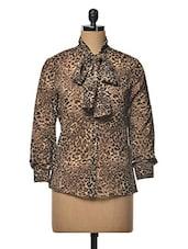 Leopard  Print Long Sleeve Top - RUTE