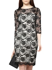 Black Bodycon Lace Dress - MARTINI